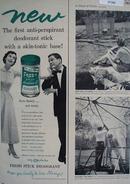 Fresh Stick Deodorant Feels Frosty Ad 1954
