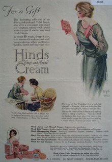 Hinds Cream For A Gift Ad 1919