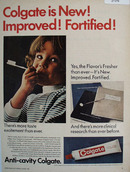 Colgate Is New Improved Fortified Ad 1967