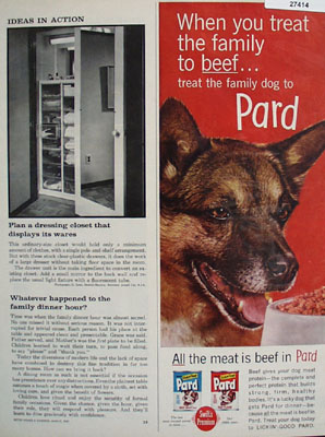 Pard Dog Food Treat Family Dog Ad 1961