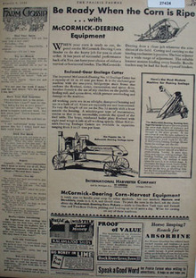 McCormick Deering Farm Eqpt Be Ready Ad 1930