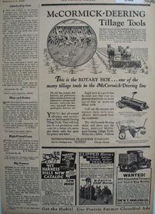 McCormick Deering Tillage Tools Ad 1930