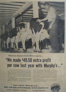 Murphy Products and Curtis Nelson Ad 1960