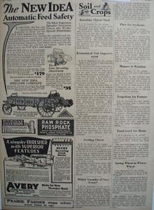 New Idea Spreader Feed Safety Ad 1930