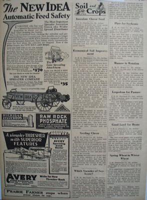 New Idea Spreader Feed Safety Ad 1930