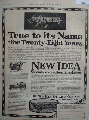 New Idea Spreader True To Its Name Ad 1927