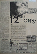 Purina Pig Chow 12 Tons Ad 1930