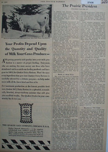 Quaker Oats Profits Depend Ad 1930
