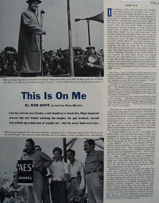 Bob Hope Article And Pictures This On Me 1954