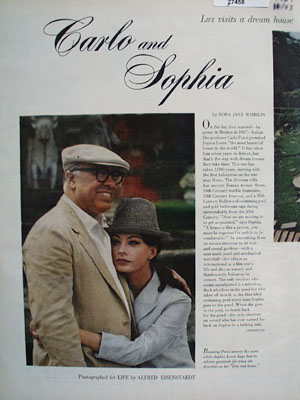 Sophia Loren And Carlo Ponti Article And Pictures 1964