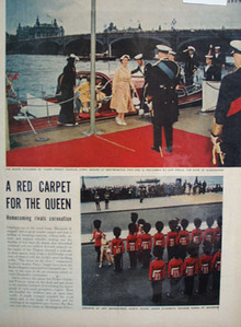 Red Carpet For The Queen Article and Pictures 1954