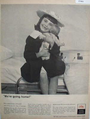 Eli Lilly We Are Going Home Ad 1965
