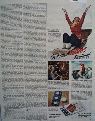 Vimms Vitamins I Have Three Children Ad 1945