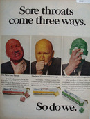 Spec T Sore Throats Come In Three Ways Ad 1968