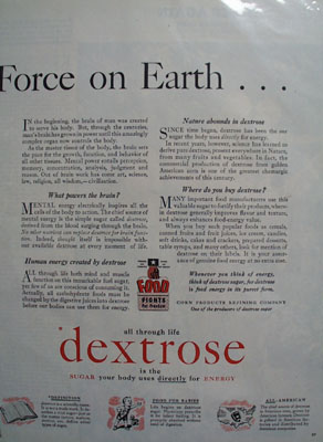 Dextrose Greatest Force On Earth Ad 1943