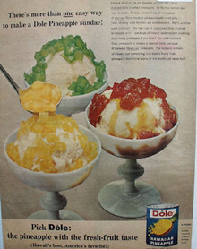 Dole Pineapple Sundaes Ad 1965