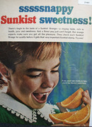 Sunkist Oranges Snappy Sweetness Ad 1965