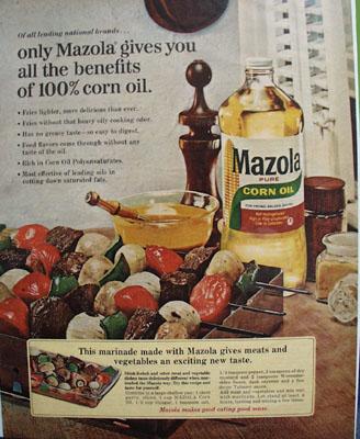 Mazola Oil And Shish Kebob Ad 1965