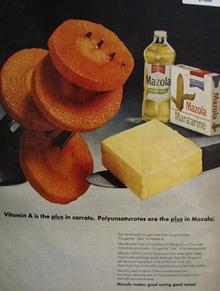 Mazola Oil Pollyunsaturates Are The Plus Ad 1967