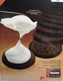 Oreo Dont Believe Skinny Sandwiches Ad 1967