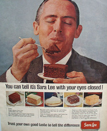 Sara Lee Can Tell With Eyes Closed Ad 1965