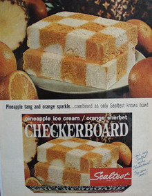 Sealtest Checkerboard Ice Cream Ad 1965