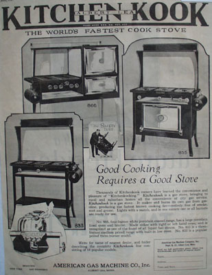 American Gas Cook Stove Ad 1927
