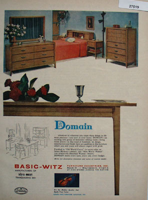 Domain Bedroom Furniture Ad 1958