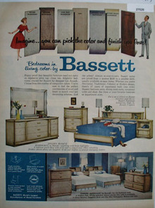 Bassett Bedrooms In Living Color Ad 1959