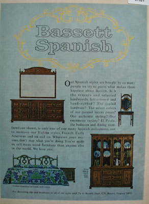Bassett Spanish El Prado Furniture Ad 1967