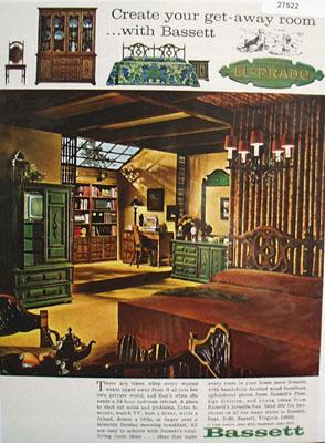 Bassett Create Own Get Away Room Ad 1968