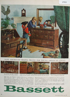 Bassett Olde American Charm Ad 1964