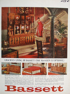 Bassett Gracious Living Ad 1964