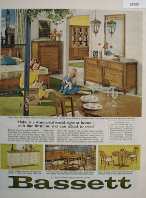 Bassett Make It A Wonderful World Ad 1965