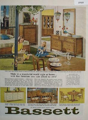 Bassett Make It A Wonderful World Ad 1965