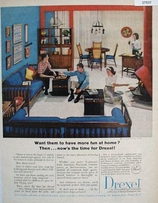 Drexel More Fun At Home Ad 1965