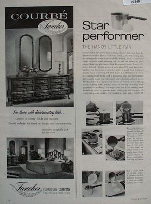 Fancher Furniture Discriminating Taste Ad 1966
