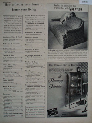 Hammary Furniture Discerning Career Girl Ad 1965