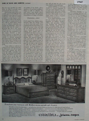 Johnson Casper Furniture Transform Your Room Ad 1966