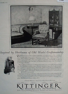 Kittinger Furniture Inspired By Heirlooms Ad 1931