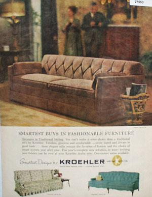 Kroehler Smartest Buys In Furniture Ad 1961