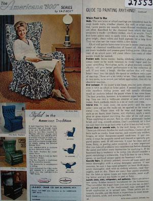 La Z Boy Chair American 600 Series Ad 1964