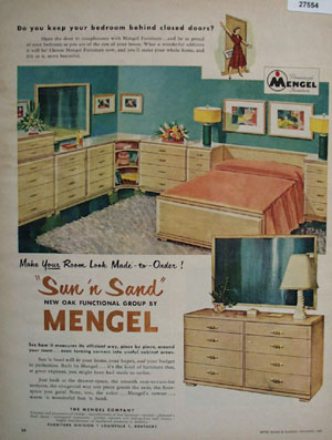 Mengel Furniture Sun And Sand Ad 1951