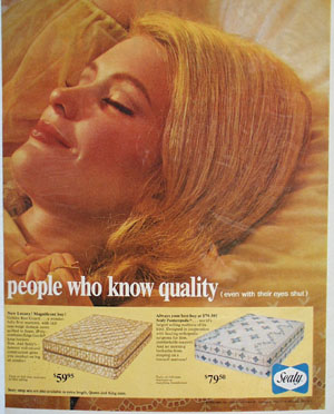 Sealy People Who Know Quality Ad 1966