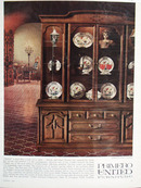 Primero United Furniture Spanish China Cabinet Ad 1966