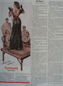 Samson Card Table Lady Standing On Table Ad 1945