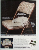 Samsonsite Chair With White Kitten Ad 1966