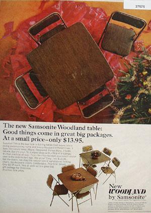 Samsonite Christmas  Ad 1965