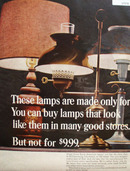 W T Grant Co Lamp Ad 1965
