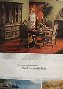 Thomasville Furniture Dining Room Madeira Ad 1967